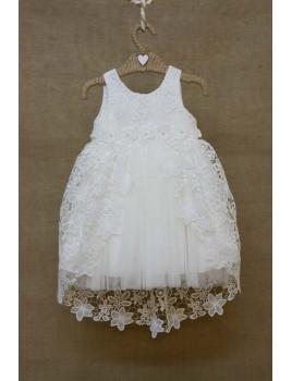 Φόρεμα Βάπτισης Bebe en Rose 82178