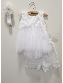 La Christine Φόρεμα Βάπτισης 19K105