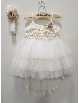 La Christine Φόρεμα Βάπτισης 19K121