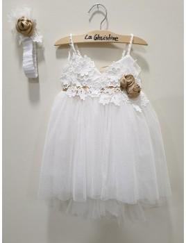 La Christine Φόρεμα Βάπτισης 19K123