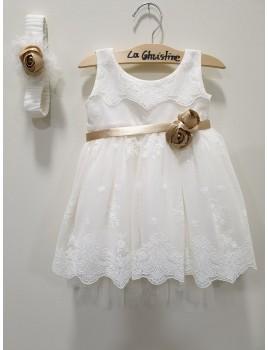 La Christine Φόρεμα Βάπτισης 19K129