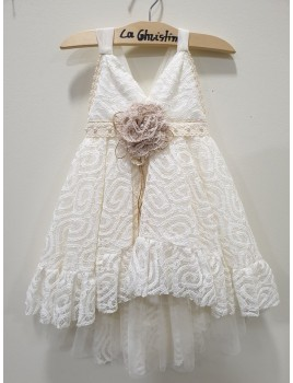 La Christine Φόρεμα Βάπτισης 19K131