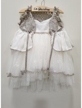 La Christine Φόρεμα Βάπτισης 19K135