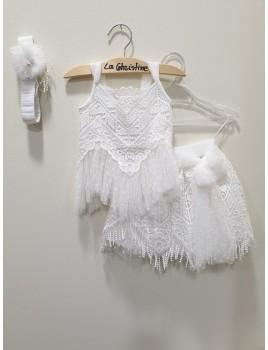 La Christine Φόρεμα Βάπτισης 19K137