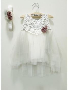 La Christine Φόρεμα Βάπτισης 19K143