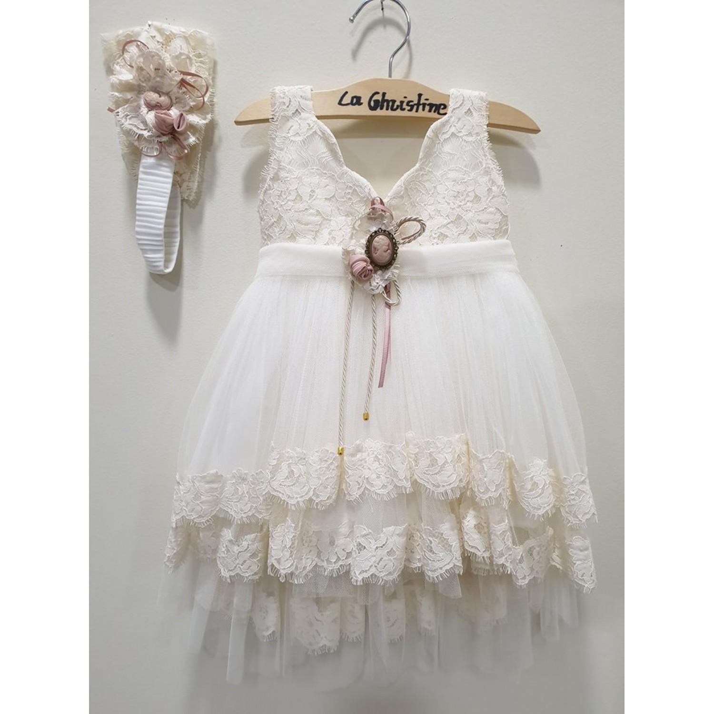75a985f040f7 -10% La Christine Φόρεμα Βάπτισης 19K155