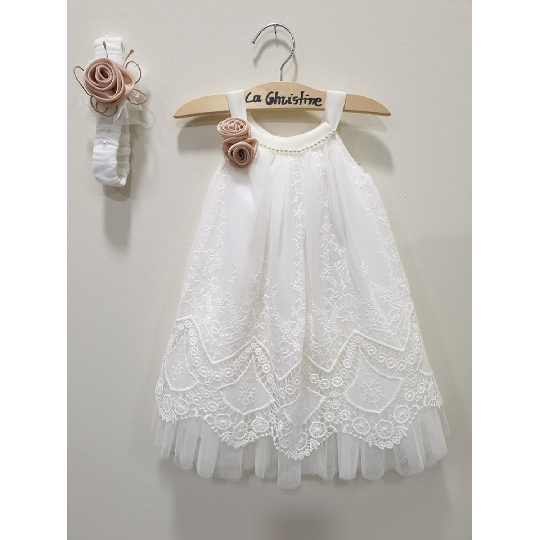 1c59894767b7 -10% La Christine Φόρεμα Βάπτισης 19K171