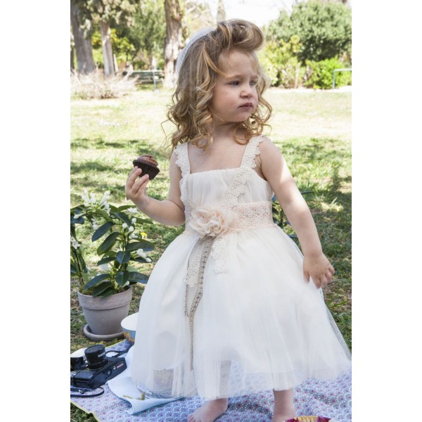 8d9278039d61 Φόρεμα Βάπτισης Makis Tselios 2017gts02 - Papillon eShop ...