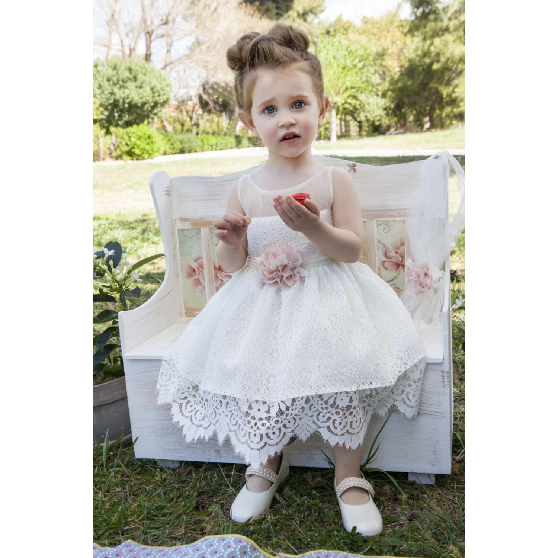 f5ba7178730 Φόρεμα Βάπτισης Makis Tselios 2017gts05 - Papillon eShop ...