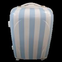 Βαλίτσα Πλαστική Ριγέ Σιέλ