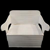 Κουτί Βάπτισης Αστόλιστο Παγκάκι - Θρανίο