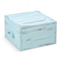 Ευχολόγιο Βάπτισης Κουτί με θέμα Vintage, Σιέλ