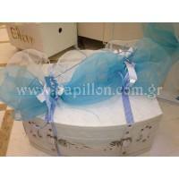 Δερμάτινη βαλίτσα με κορώνες κωδ.2751