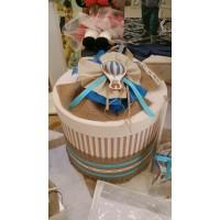 Κουτί Βάπτισης Καπελιέρα με Αερόστατο κωδ.7530