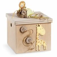 Κουτί βάπτισης Κύβος με Safari, Ζωάκια