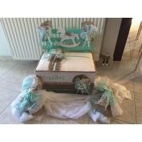 Κουτί Βάπτισης Παγκάκι με Άλογο