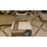 Κουτί Βάπτισης Παγκάκι με Καράβι
