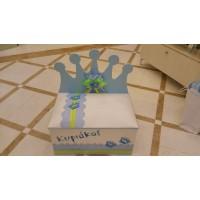 Κουτί Βάπτισης Παγκάκι με Κορώνα κωδ.7528