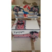 Κουτί Βάπτισης Παγκάκι με Πειρατής