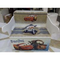 Κουτί Βάπτισης Παγκάκι - Θρανίο με McQueen