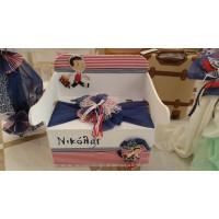 Κουτί Βάπτισης Παγκάκι - Θρανίο με Μικρός Νικόλας