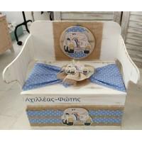 Κουτί Βάπτισης Παγκάκι - Θρανίο με Σκαραβέος