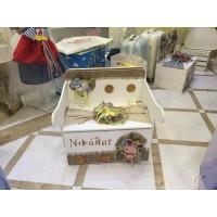 Κουτί Βάπτισης Παγκάκι - Θρανίο με Ζωάκια, Safari κωδ.7515