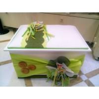 Κουτί βάπτισης Σεντούκι με Piter Pan