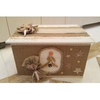 Κουτί βάπτισης Σεντούκι με Πρίγκιπας κωδ.6187