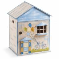 Κουτί βάπτισης Σπίτι με Μπαλόνια