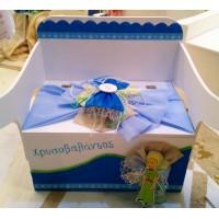 Κουτί βάπτισης Θρανίο - Παγκάκι με Πρίγκιπας