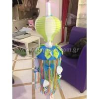 Λαμπάδα Κερί με Αερόστατο κωδ.4277