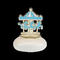 Μπομπονιέρα Βάπτισης Μεταλλικές Δημιουργίες σε Βότσαλο Carousel 61205A