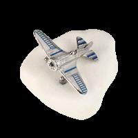 Μπομπονιέρα Βάπτισης Μεταλλικές Δημιουργίες σε Βότσαλο Αεροπλάνο 82039