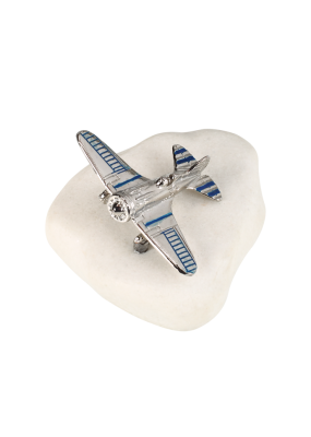 Μπομπονιέρα Βάπτισης Βότσαλο Αεροπλάνο 82039