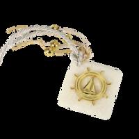 Μπομπονιέρα Βάπτισης Μεταλλικές Δημιουργίες σε Πέτρα Τιμόνι Καράβι 82113