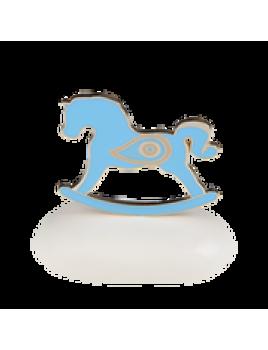Μπομπονιέρα Βάπτισης Μεταλλικές Δημιουργίες σε Βότσαλο Αλογάκι Μάτι 8943A