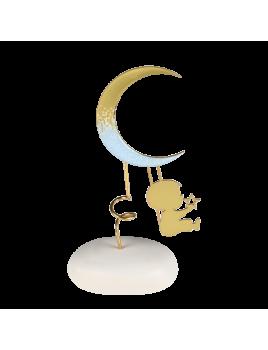 Μπομπονιέρα Βάπτισης Αστέρια Ευχών Αγοράκι με Φεγγάρι 8948A
