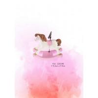 Μπομπονιέρα Βάπτισης Αλογακι Ροζ Κλιπ 22024Β