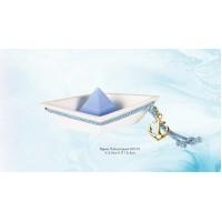 Μπομπονιέρα Βάπτισης Βάρκα Πολυστερική Κορδόνι 82101