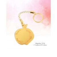 Μπομπονιέρα Βάπτισης Ρόδι Ευχών Χρυσό Κορδόνι Μπρελόκ 1216