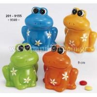 Μπομπονιέρα βάπτισης κουμπαράς βάτραχος  201-9135