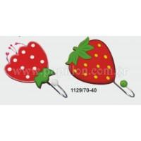 Μπομπονιέρα βάπτισης κρεμάστρα φράουλα