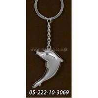 Μπομπονιέρα βάπτισης μπρελόκ δελφίνι  05-222