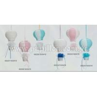 Μπομπονιέρα βάπτισης χάρτινο αερόστατο  00227