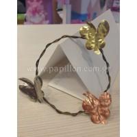 Μπομπονιέρα βάπτισης χειροποίητο πεταλούδα