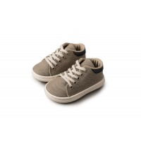 Babywalker Παπούτσια Βάπτισης υφασμάτινο δετό sneaker 3029