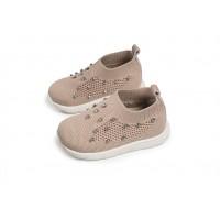 Babywalker Παπούτσια Βάπτισης  πλεκτά sneakers διακοσμημένα με strass swarovski