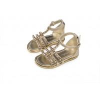 Babywalker Παπούτσια Βάπτισης  πέδιλο με λωρίδες διακοσμημένες με κρύσταλλα swarovski