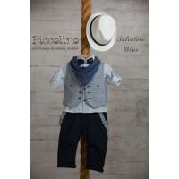 Piccolino Κουστούμι Βάπτισης AG19S21 SALVATORE BLUE